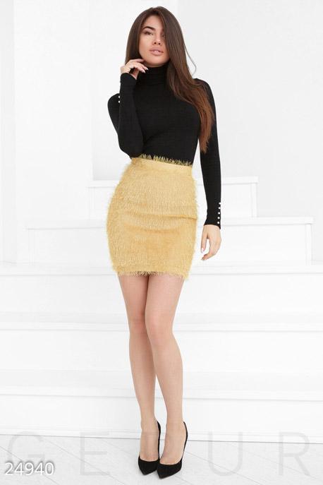 Стильная пушистая юбка