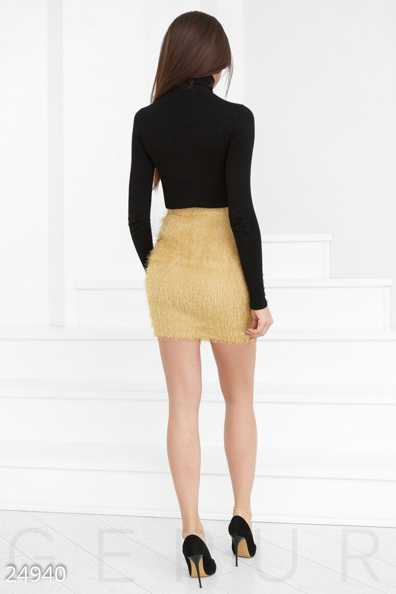 Skirt with a high rise Yellow 24940