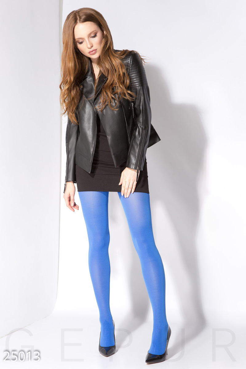 Colored opaque tights Blue 25013