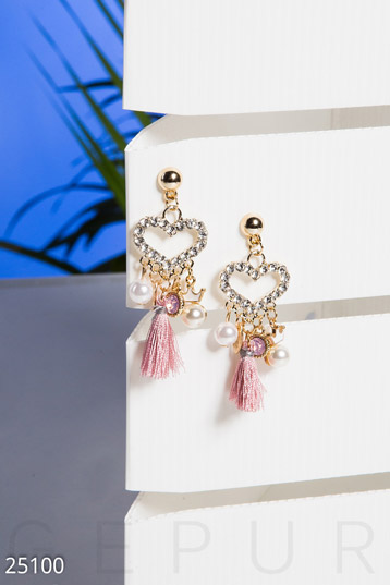 Colored earrings-tassels  photo 1