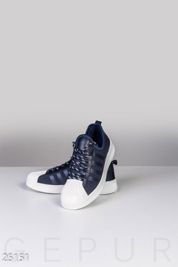 Textile women's sneakers  photo 1