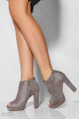 Open suede ankle boots  photo 1