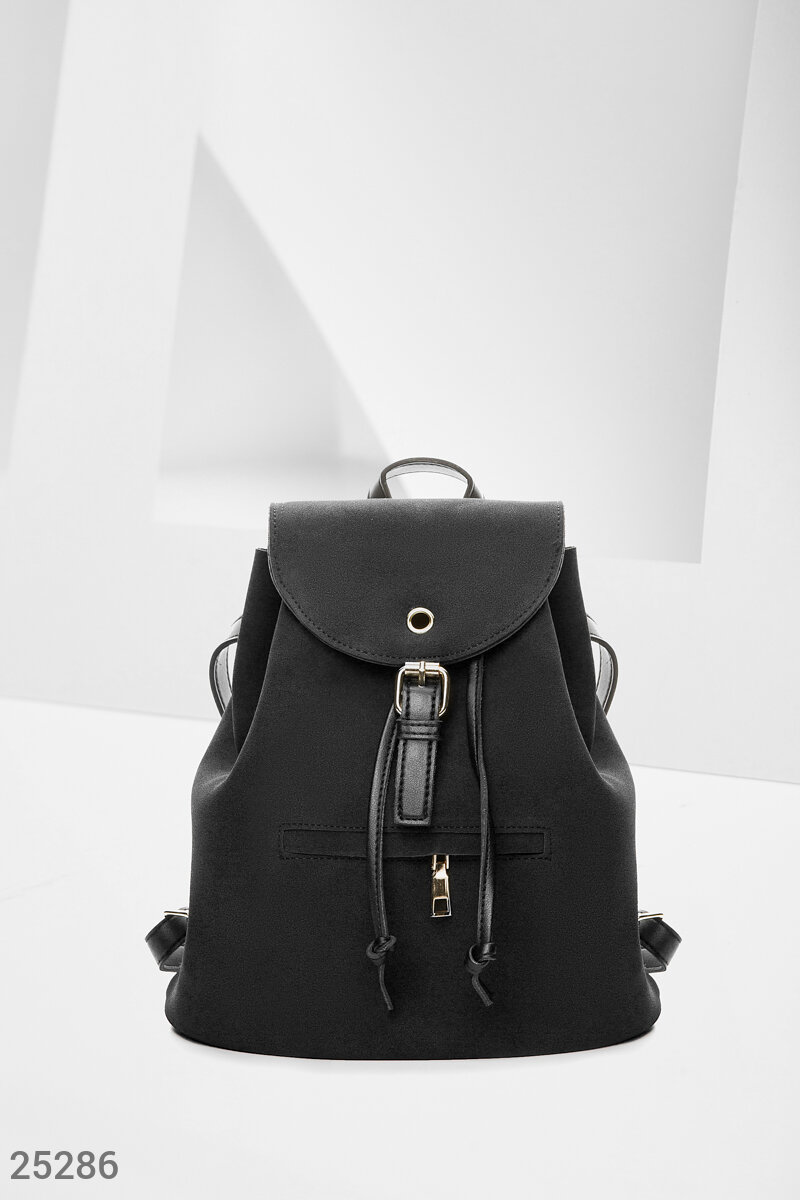 Black city backpack Black 25286