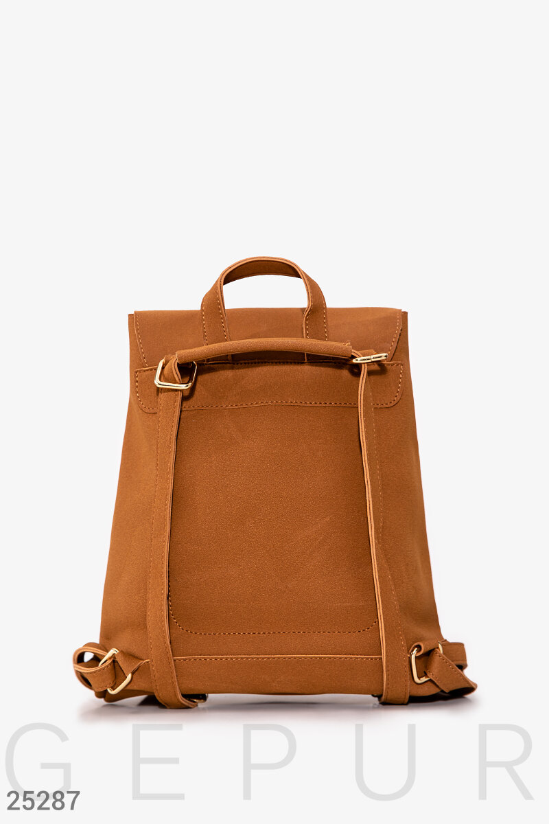 Compact city backpack  Brown 25287
