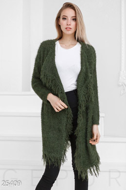 Knitted cardigan fringe  photo 1