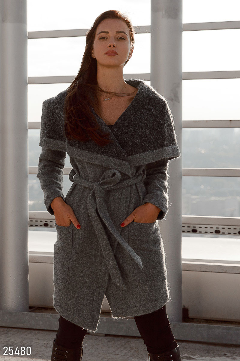 Soft wool coat Grey 25480