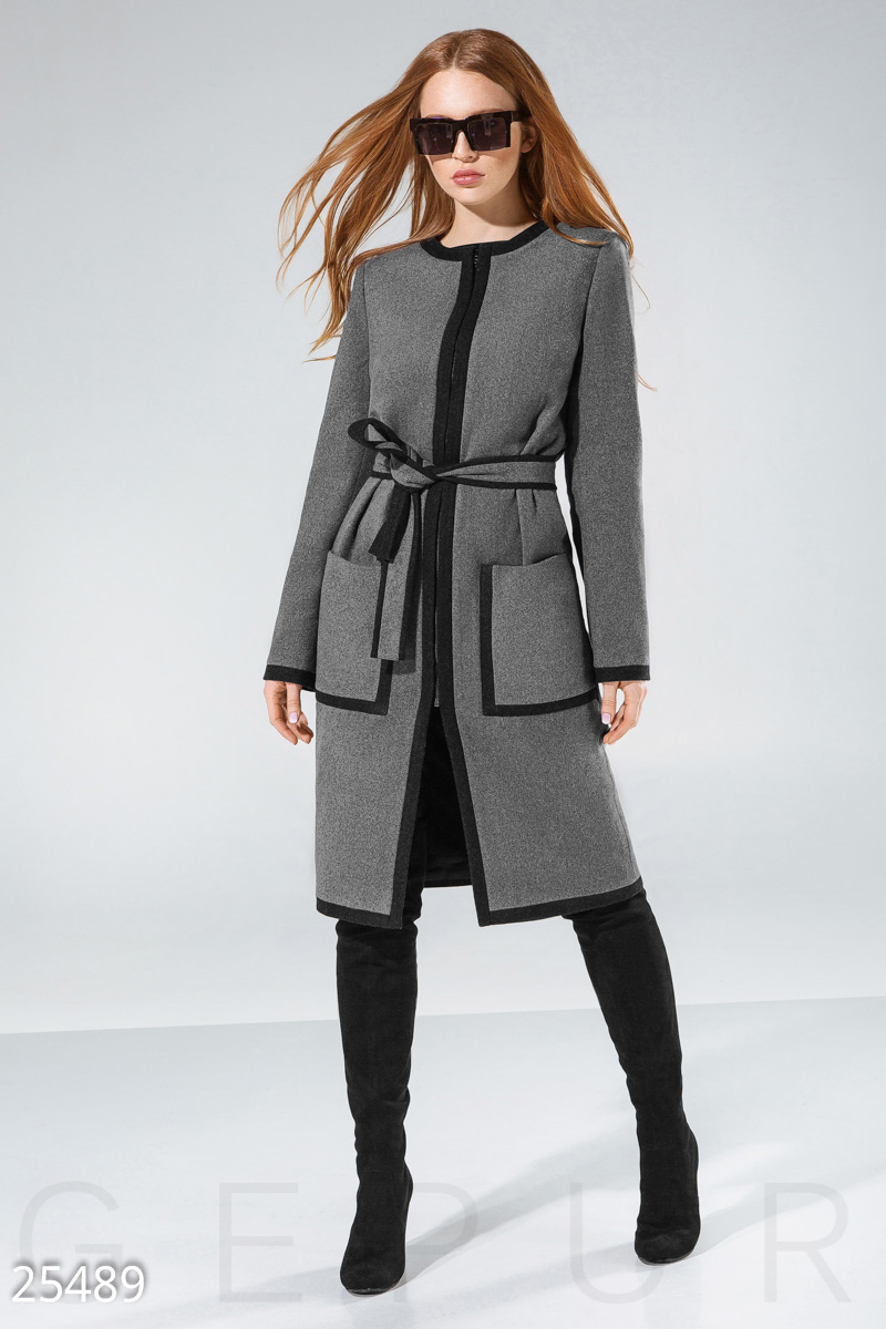 Stylish woolen coat Grey 25489