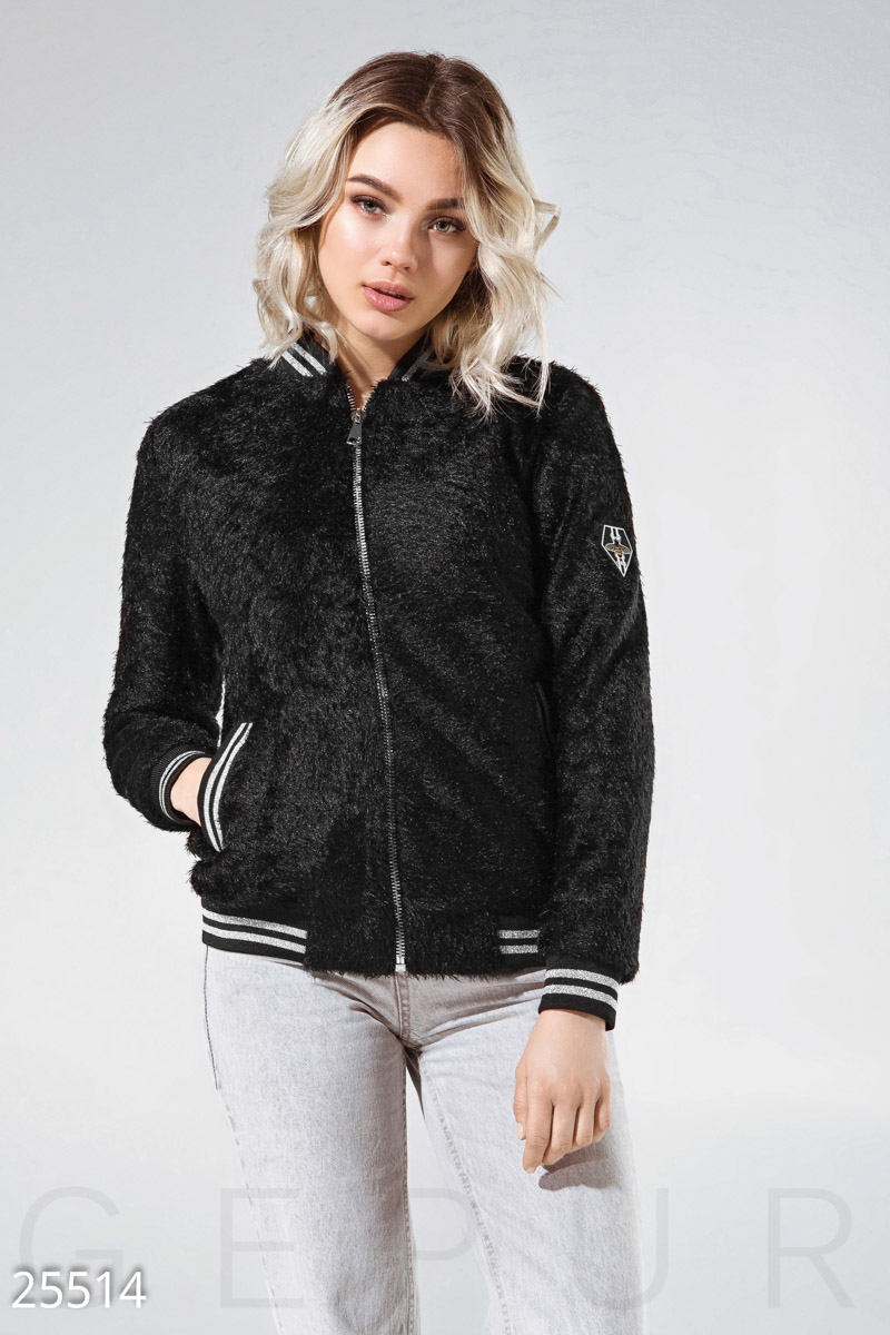 The actual bomber jacket Black 25514