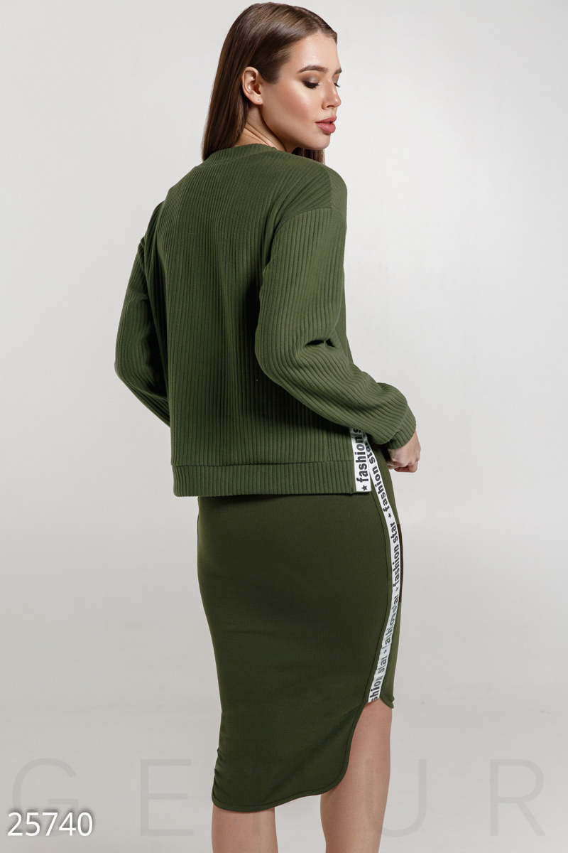 Extraordinary knitted suit  Green 25740
