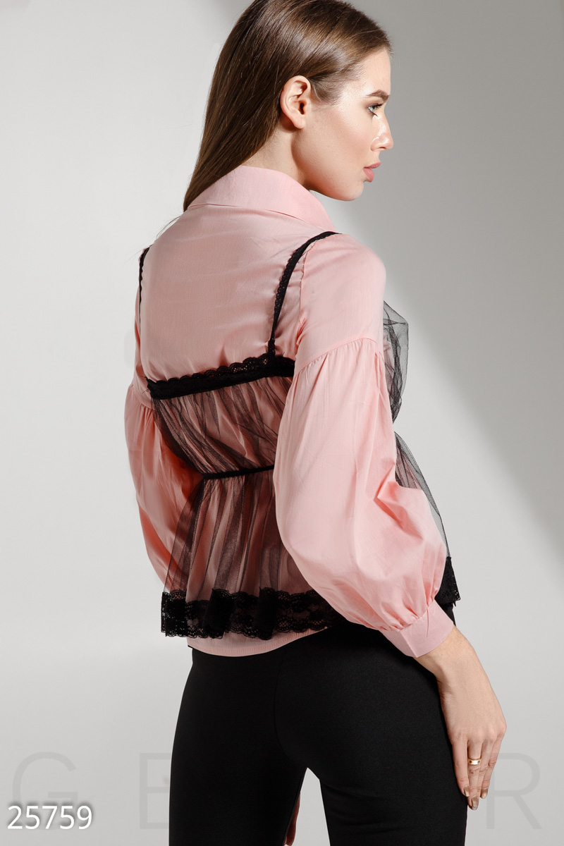 Trendy women's shirt Pink 25759