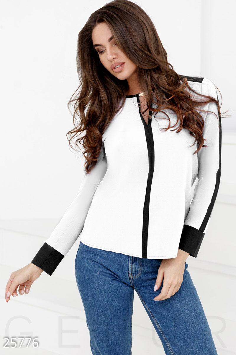 1fae865d1607 Контрастная шифоновая блуза - купить в Украине и России | GEPUR