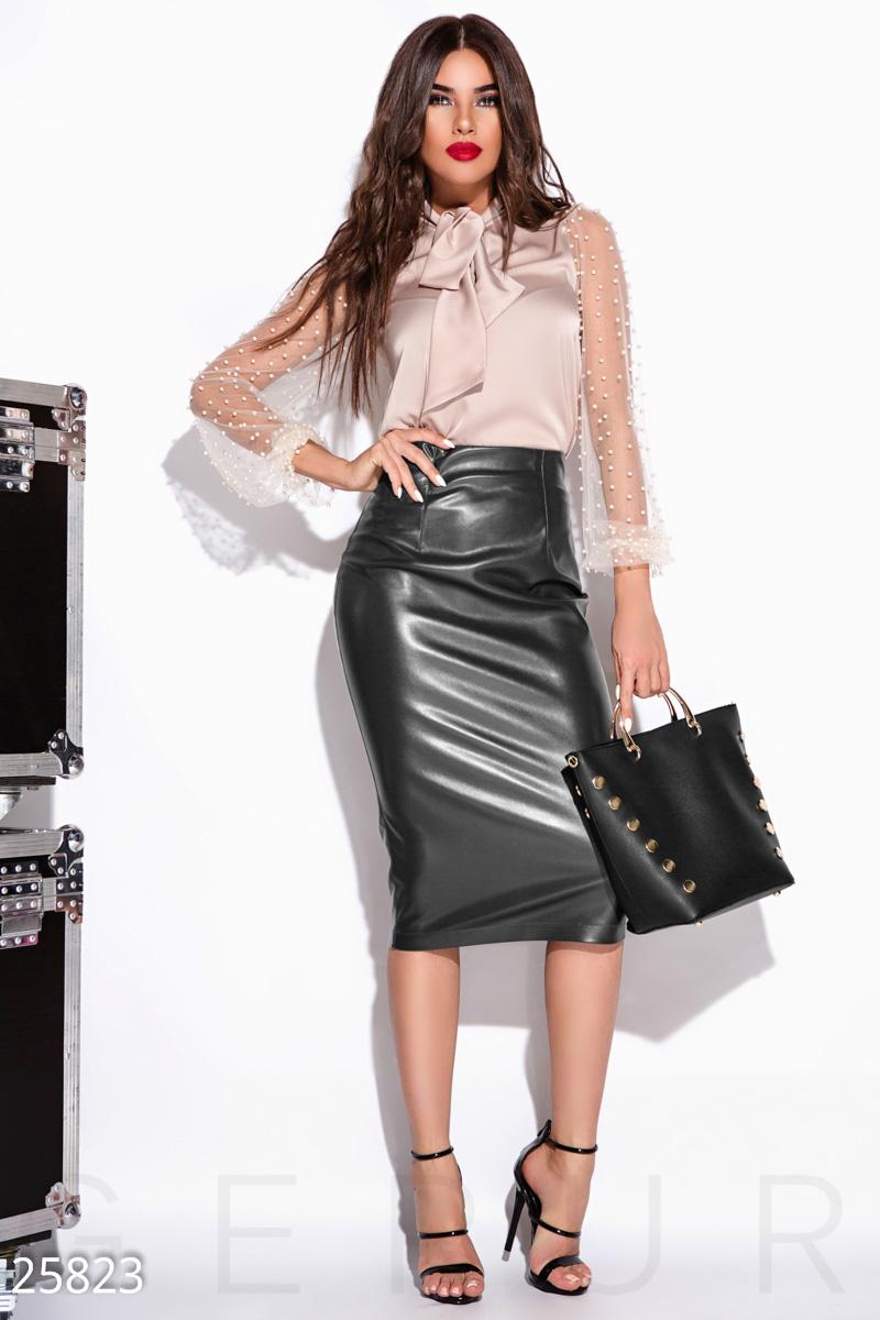 4d2513eb7dc Высокая кожаная юбка - купить оптом и в розницу