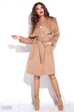 Stylish cashmere coat photo 1