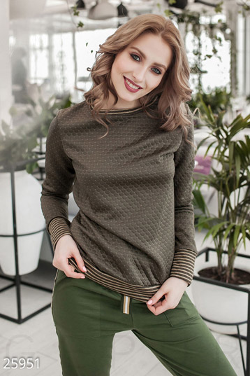 Women's quilted sweatshirt  photo 1