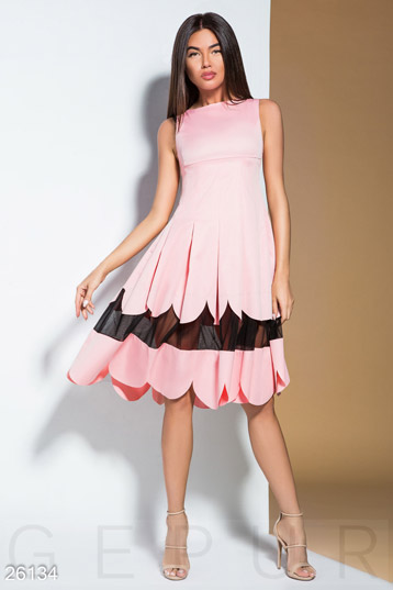 Flared pleated dress photo 1