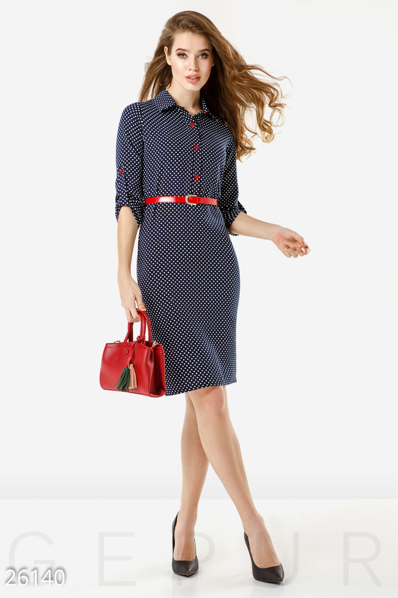 Office dress polka dot