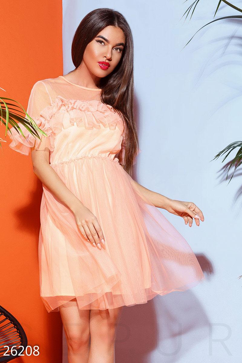 New Пышное платье-сетка