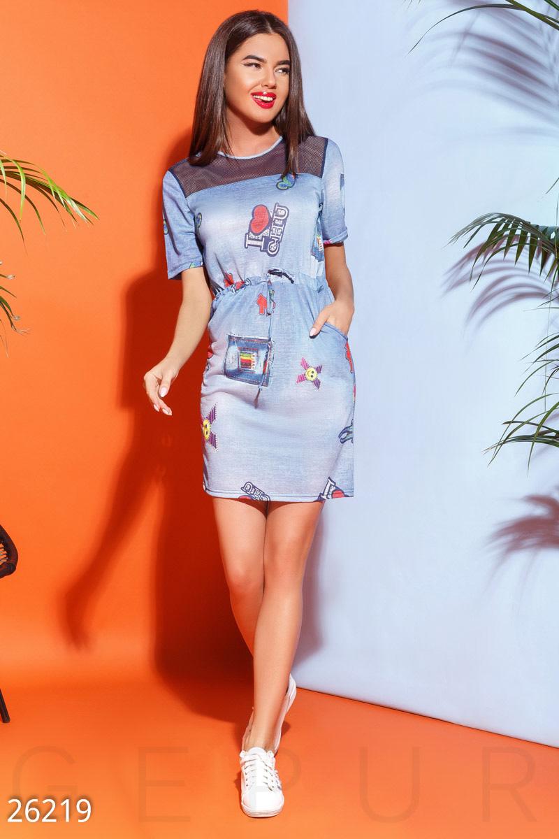 New Принтованное летнее платье