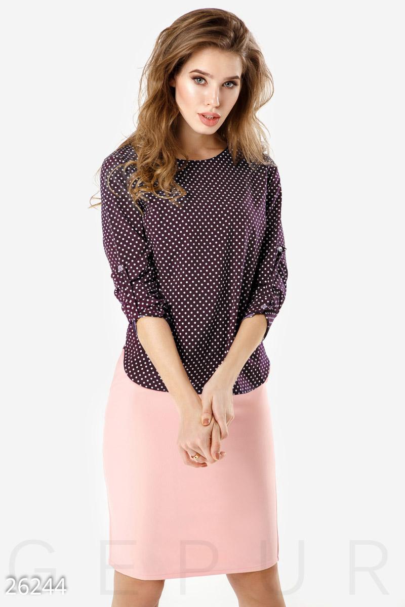 New Легкая двухцветная блуза