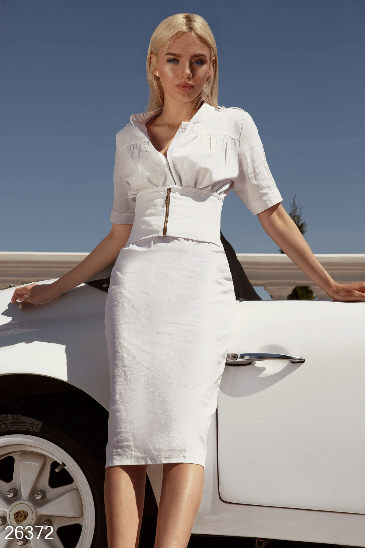 Casual summer dress White 26372