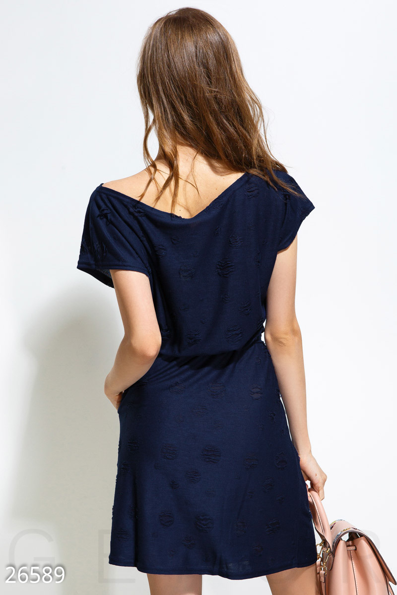 Comfortable beach dress Blue 26589