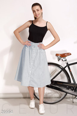 Striped a-line skirt  photo 1