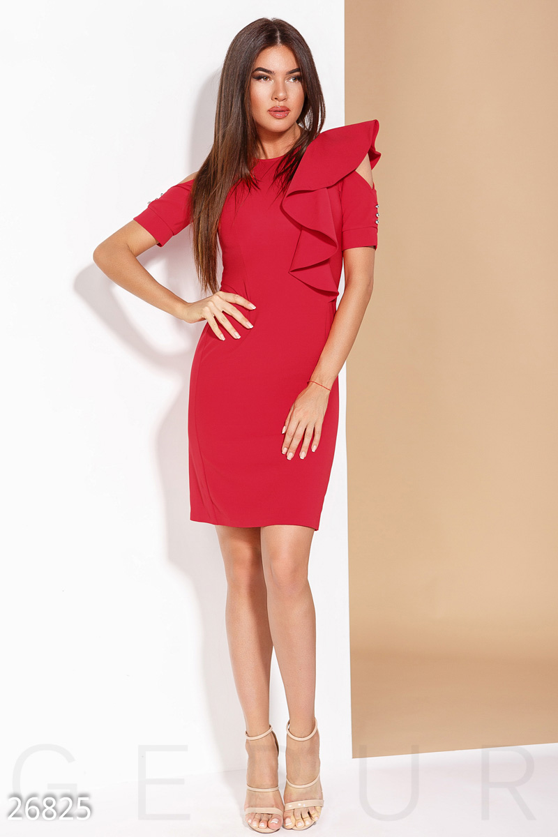 Bright business dress Red 26825