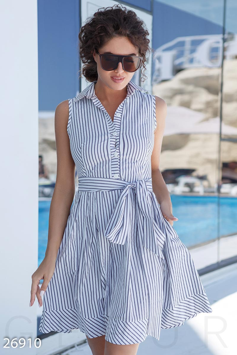 Summer striped dress Blue 26910