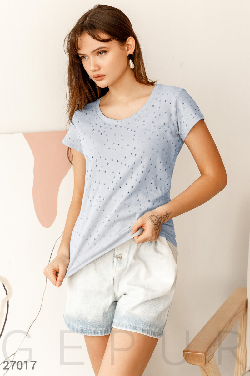 Stylish t-shirt for women Grey 27017