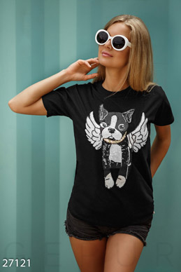 T-shirt with a dog photo 1