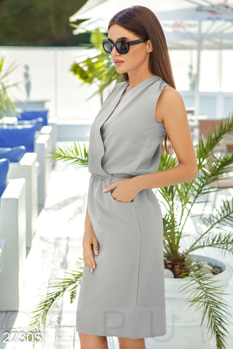 Simply MIDI dress Grey 27305
