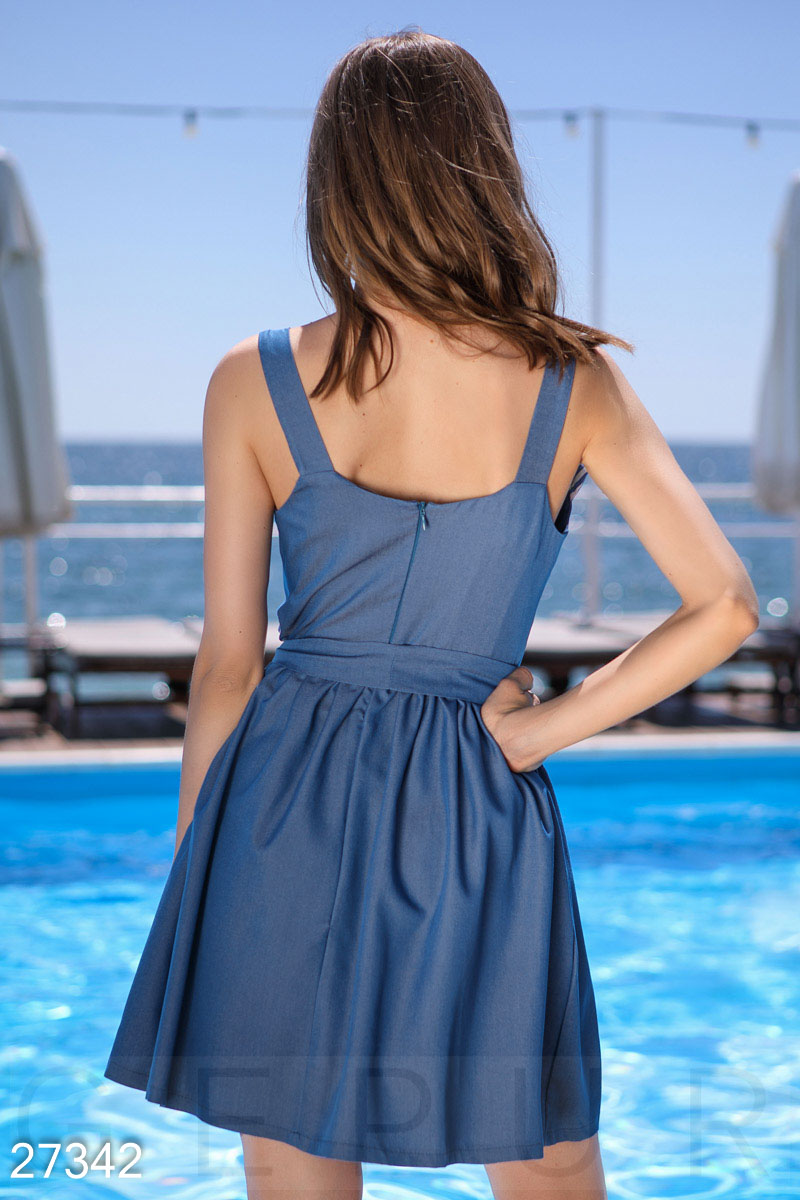 Sundress with trim Blue 27342