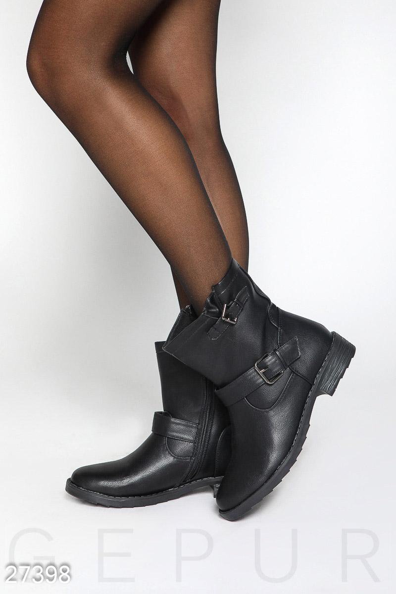 Кожаные ботинки на молнии