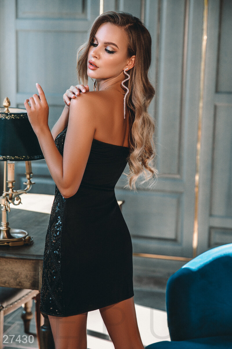 Evening bandeau dress Black 27430