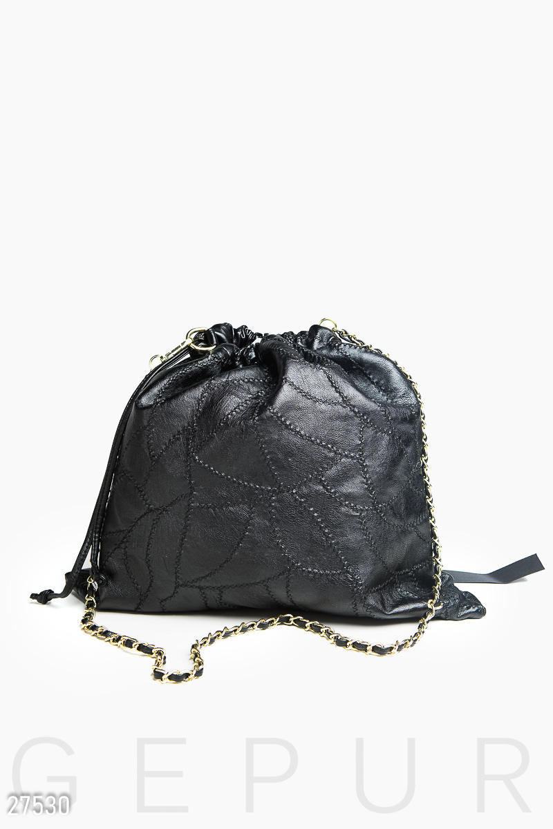 Leather bag Black 27530