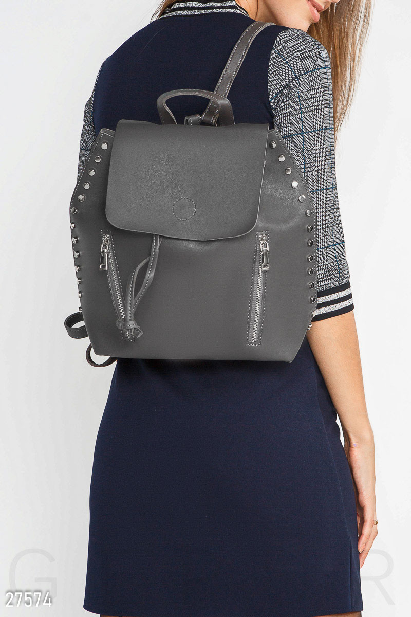 A roomy women's backpack Grey 27574