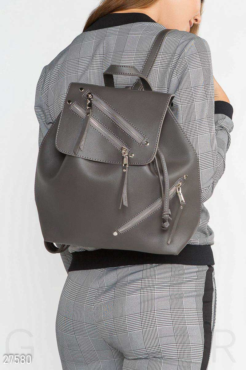Casual women backpack Grey 27580