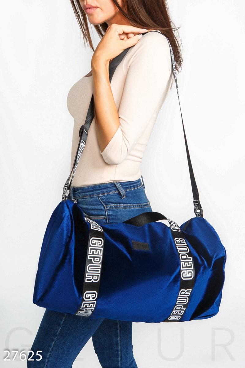 Бархатная спортивная сумка