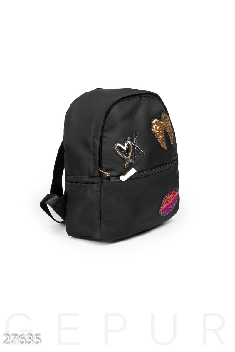Compact women's backpack Black 27635