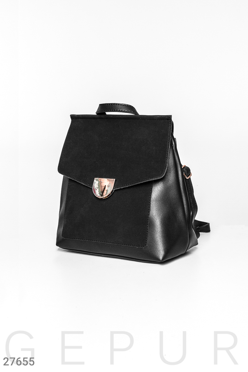 Casual women backpack Black 27655