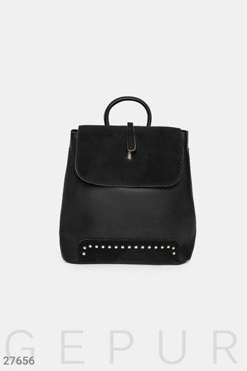 759eb1ae5d96 рюкзак,-застежка с декоративной молнией,три отделения внутри,цвет-черный.