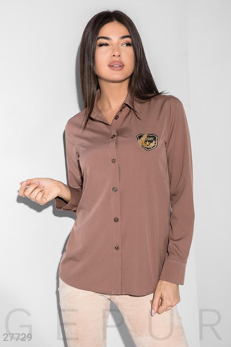 9d57393e047 Легкая рубашка с декором - купить оптом и в розницу