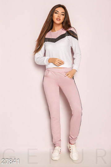 f61e01919412 Женские спортивные костюмы розового цвета купить - оптом и в розницу ...