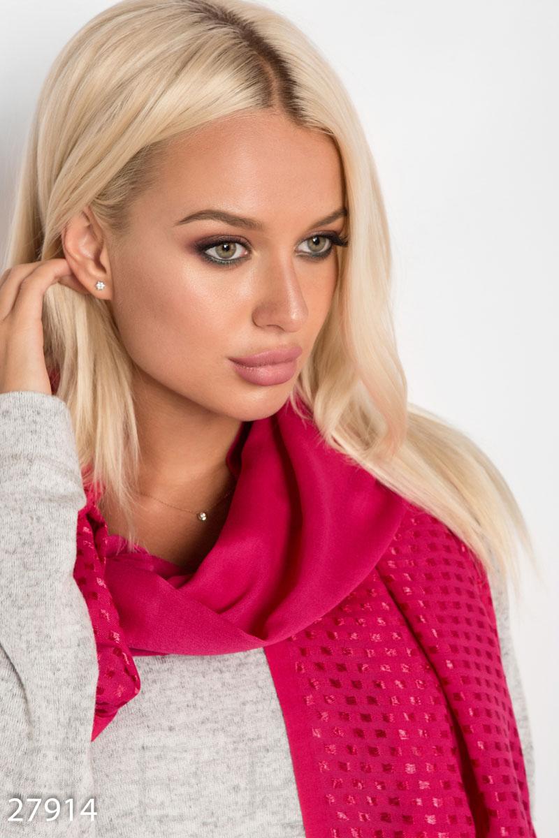 Декорированный шарф-палантин