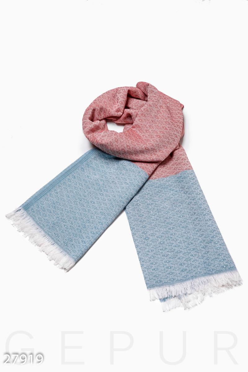 Контрастный шарф-палантин