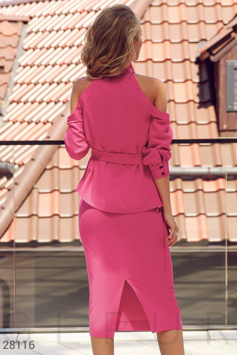Extraordinary business suit Pink 28116