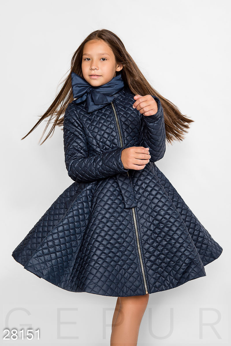 Quilted baby coat Blue 28151