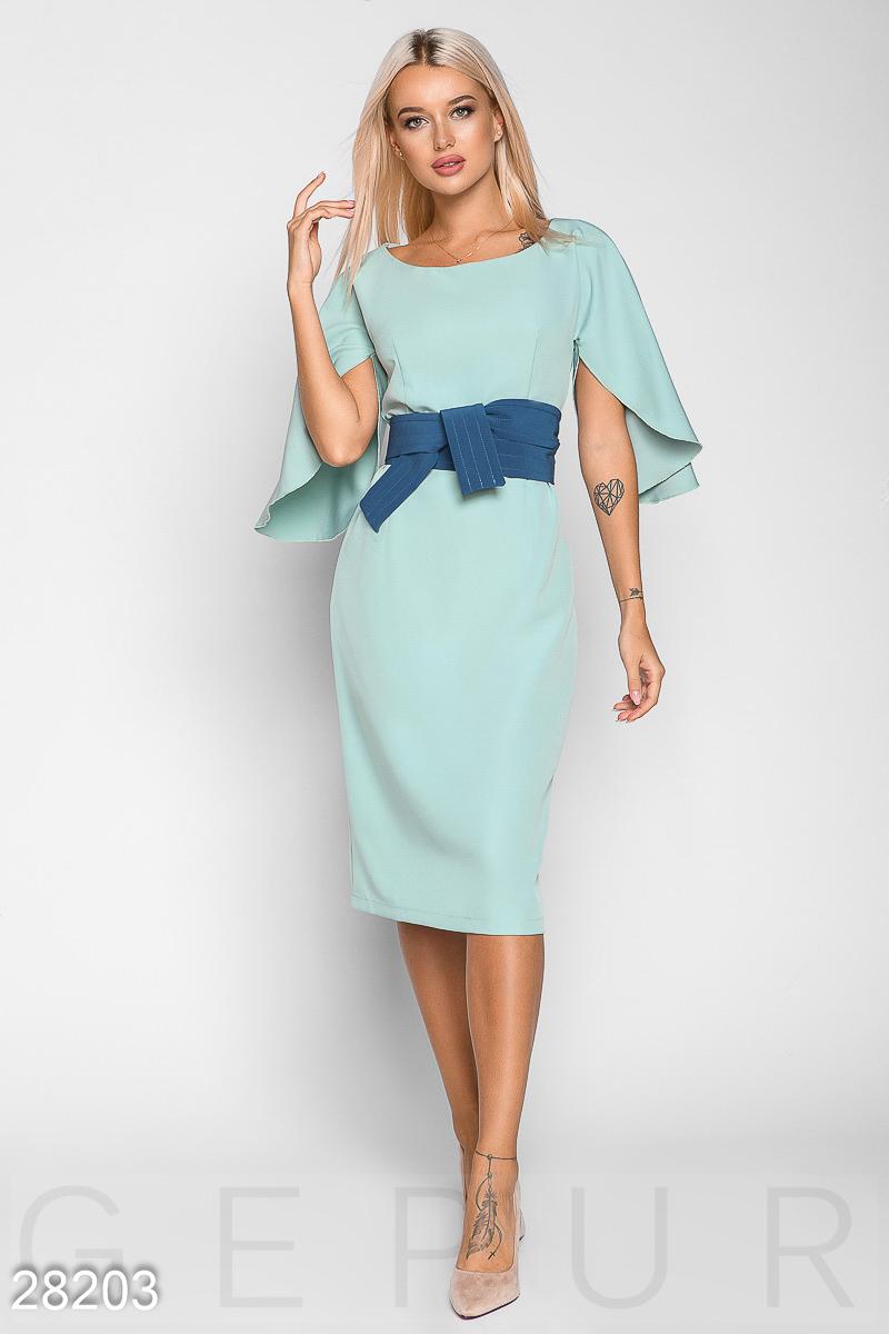 7fd8ad60ae9392 Елегантне плаття з широким поясом - купити оптом і уроздріб | GEPUR