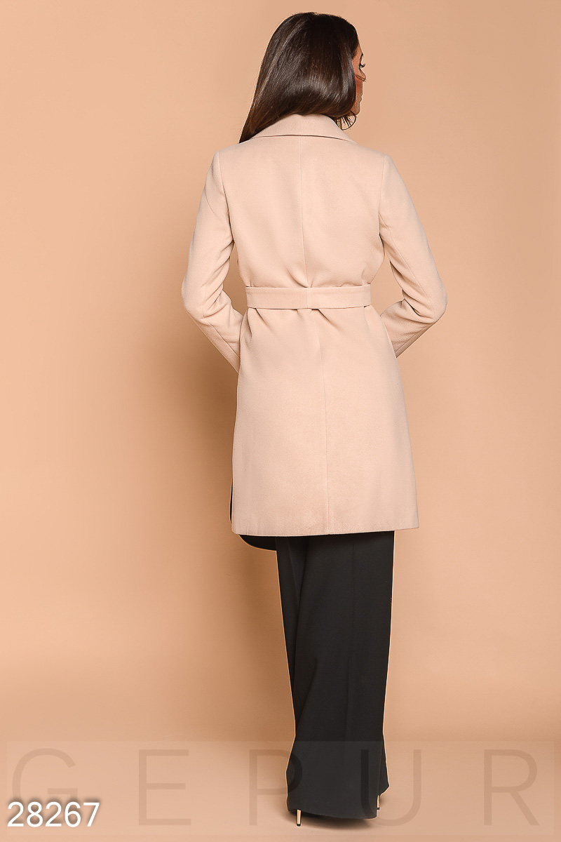 Double-breasted women's coat Beige 28267