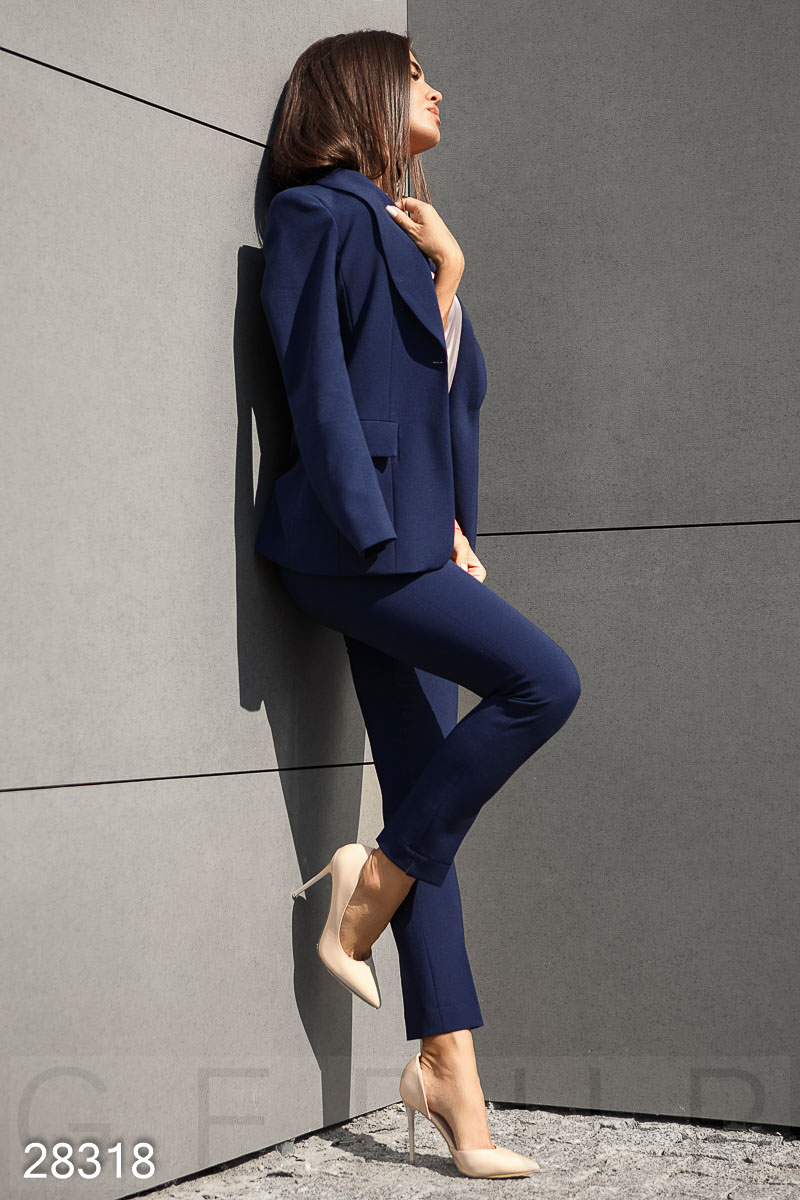 Slim business jacket Blue 28318